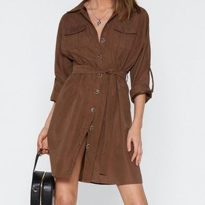 NWT Button Down Utility Dress